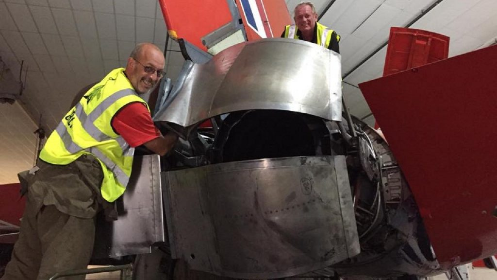 Mick and Spanners fitting the reverse thrust buckets